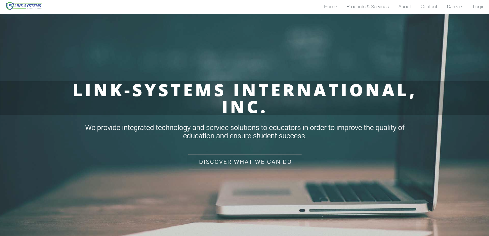 link systems website screenshot